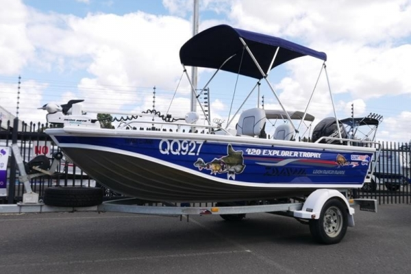Quintrex 420 Explorer Trophy Side Console for sale in Braeside, Victoria at $19,999