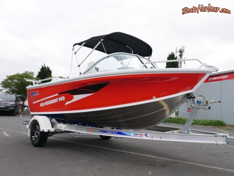 Quintrex 450 Fishabout Pro Runabout for sale in Braeside, Victoria (ID-31)