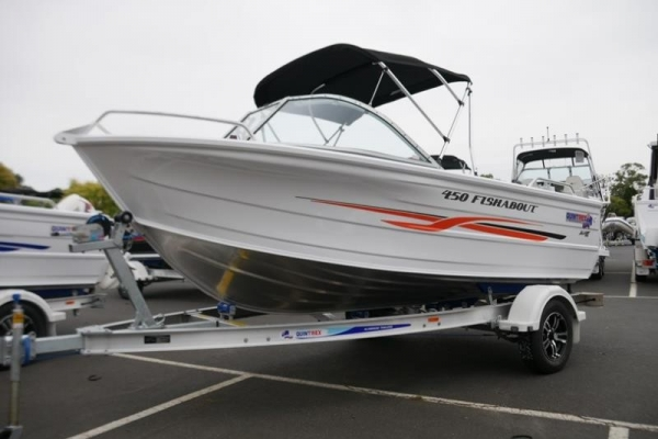 Quintrex 450 Fishabout Runabout for sale in Braeside, Victoria at $28,990