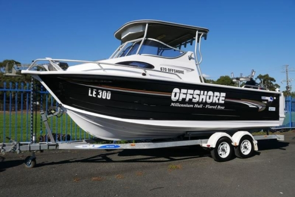 Quintrex 670 Offshore Hard Top Cabin Boat for sale in Braeside, Victoria at $59,999